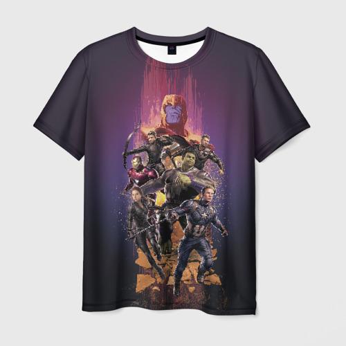 Мужская футболка 3D Avengers & Thanos