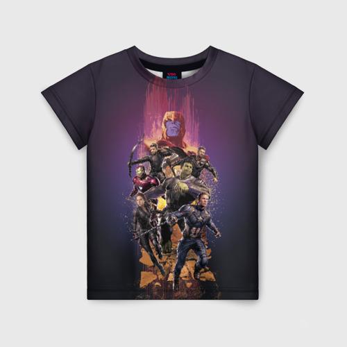 Детская футболка 3D Avengers & Thanos