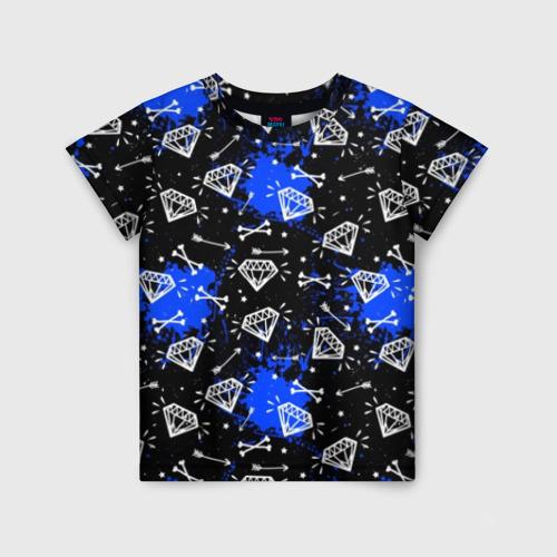 Детская футболка 3D Алмазы и стрелы
