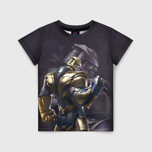 Детская футболка 3D Thanos dark