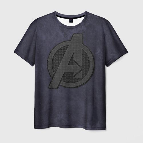 Мужская футболка 3D Avengers logo dark
