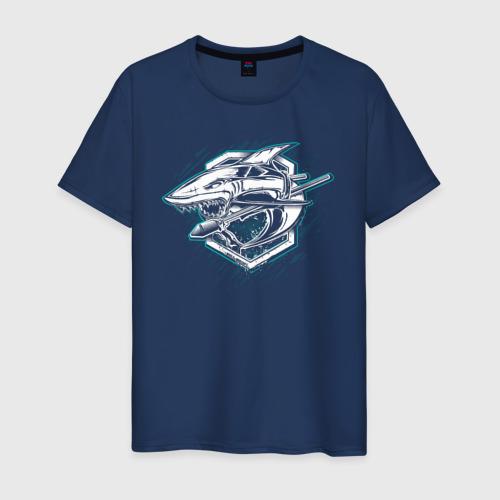 Мужская футболка хлопок Shark