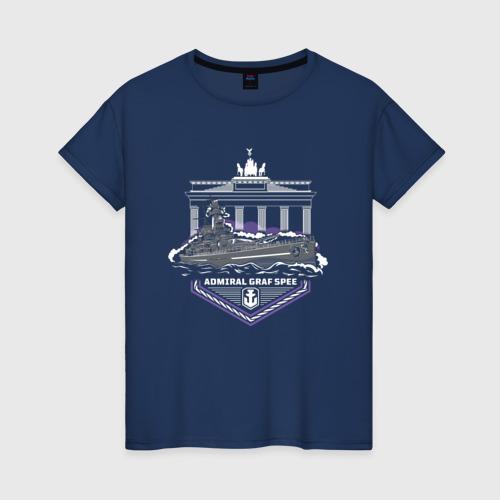 Женская футболка хлопок Graf Spee