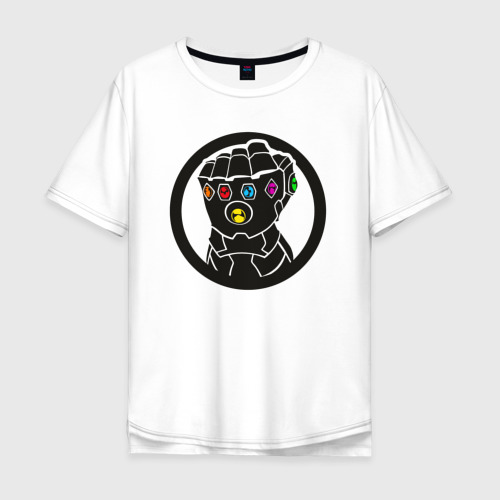 Мужская футболка хлопок Oversize Infinity Gauntlet