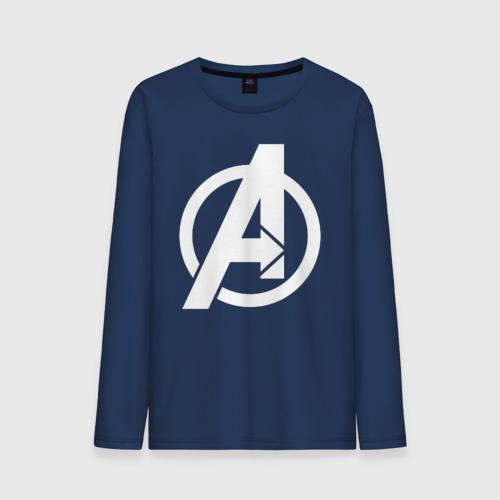 Мужской лонгслив хлопок Avengers logo white