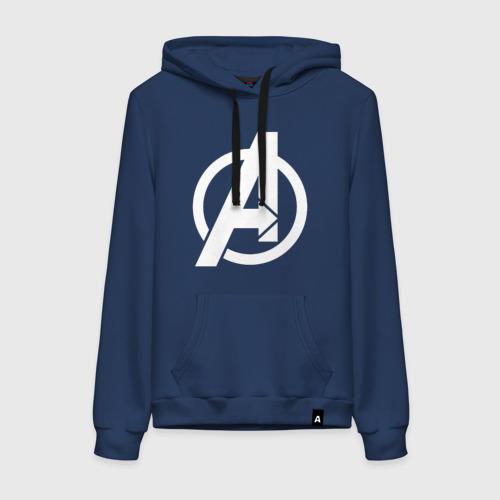 Женская толстовка хлопок Avengers logo white