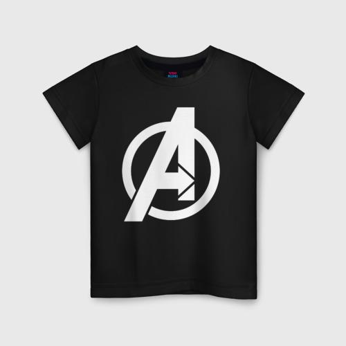Детская футболка хлопок Avengers logo white