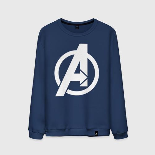 Мужской свитшот хлопок Avengers logo white