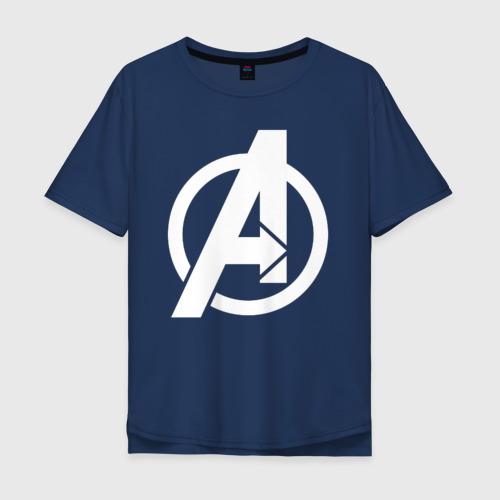 Мужская футболка хлопок Oversize Avengers logo white