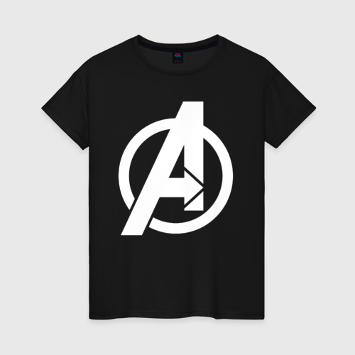 Женская футболка хлопок Avengers logo white