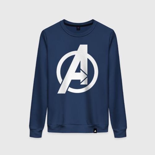 Женский свитшот хлопок Avengers logo white