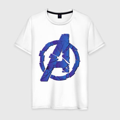 Мужская футболка хлопок Avengers logo blue