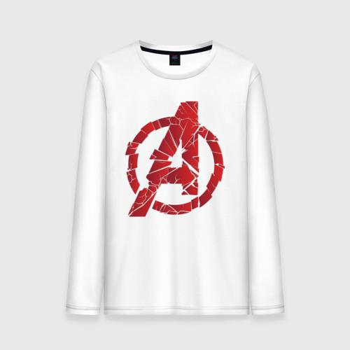 Мужской лонгслив хлопок Avengers logo red