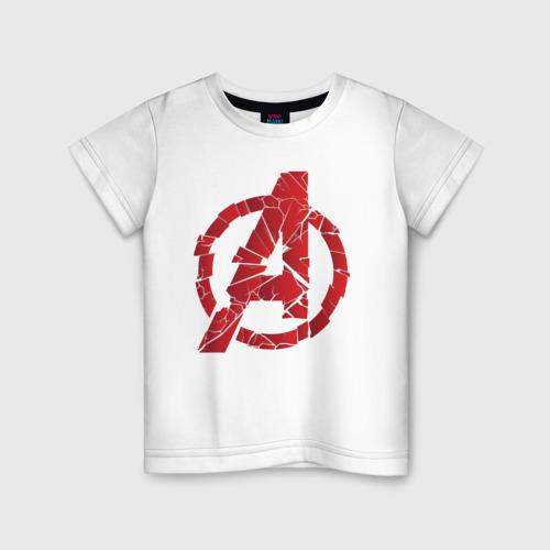 Детская футболка хлопок Avengers logo red