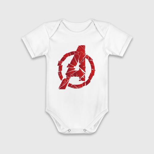 Детское боди хлопок с коротким рукавом Avengers logo red