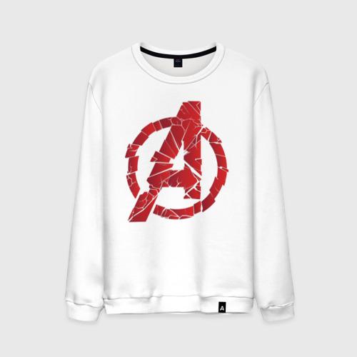 Мужской свитшот хлопок Avengers logo red