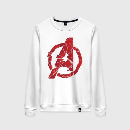 Женский свитшот хлопок Avengers logo red