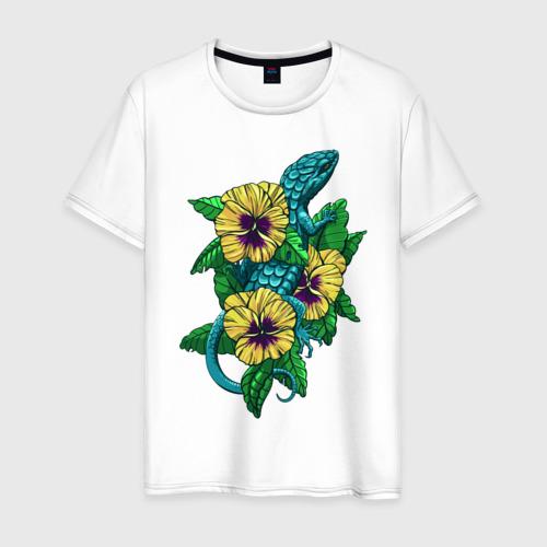 Мужская футболка хлопок Ящерка