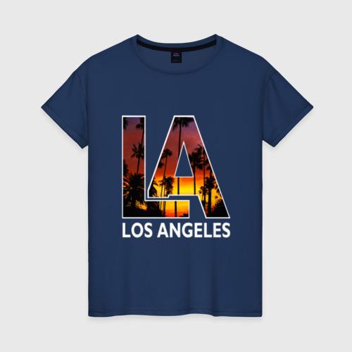 Женская футболка хлопок Los angeles
