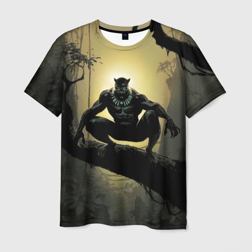 Мужская футболка 3D Black Panther