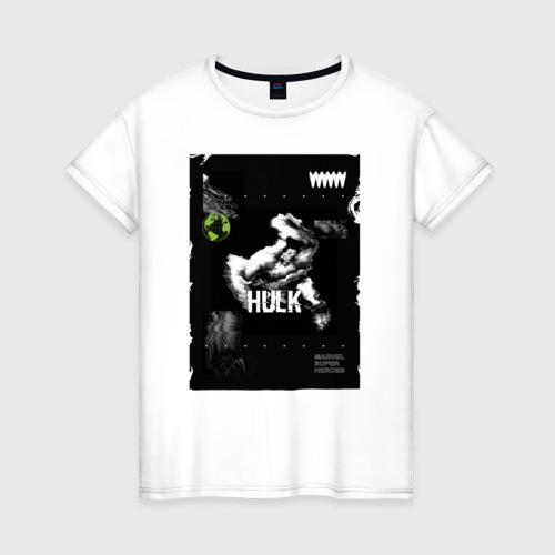 Женская футболка хлопок Hulk poster