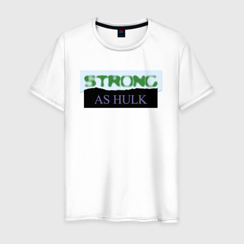Мужская футболка хлопок Strong as Hulk