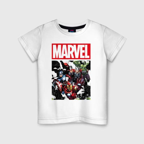 Детская футболка хлопок Avengers glitch