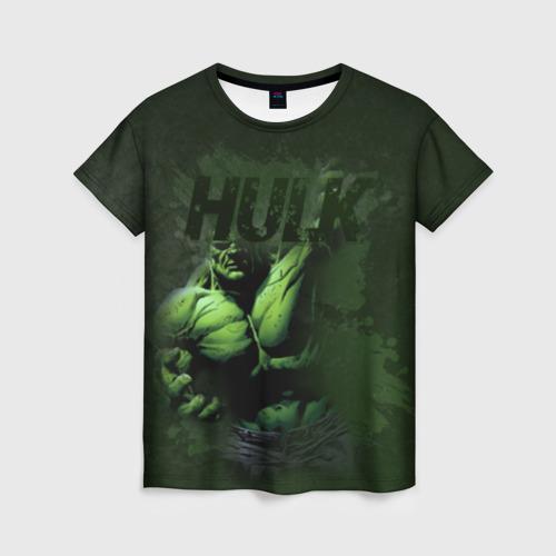 Женская футболка 3D Hulk comics