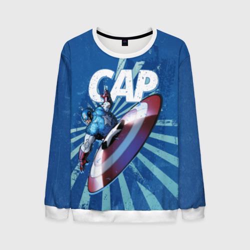 Мужской свитшот 3D Captain America