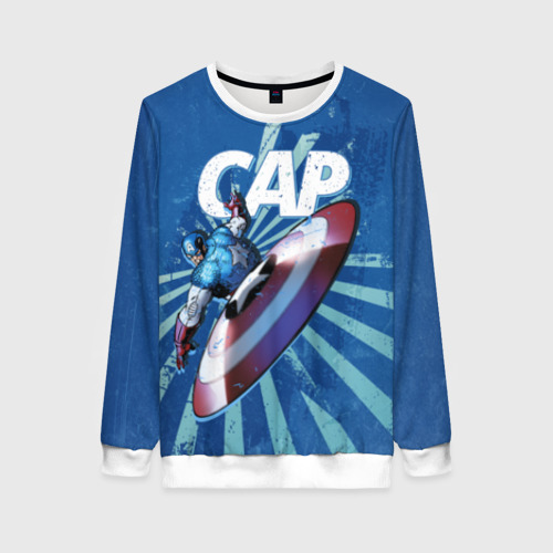 Женский свитшот 3D Captain America