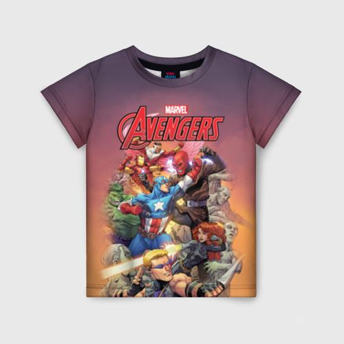 Детская футболка 3D Avengers
