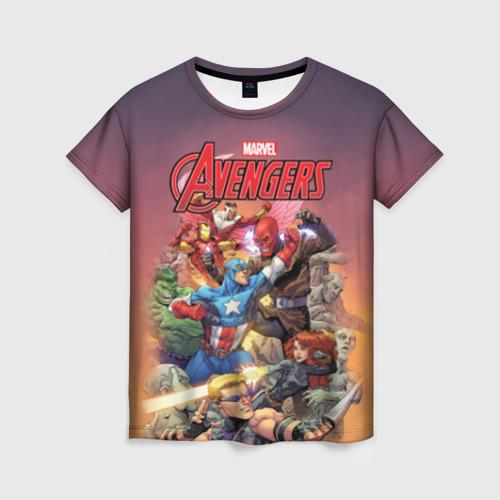 Женская футболка 3D Avengers