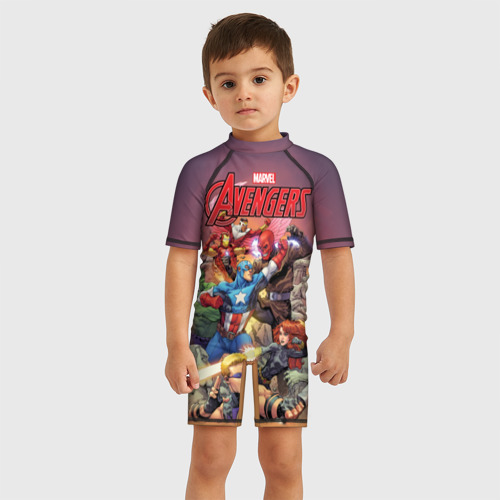 Детский купальный костюм 3D Avengers