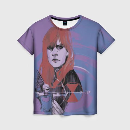 Женская футболка 3D Natasha Romanoff
