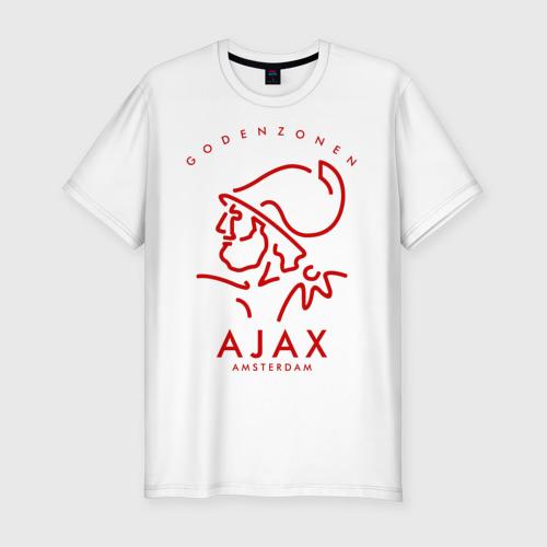 Мужская футболка хлопок Slim Аякс
