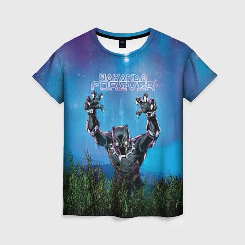 Женская футболка 3D Wakanda forever
