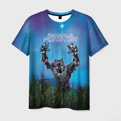 Мужская футболка 3D Wakanda forever