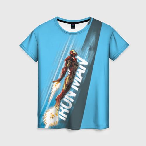 Женская футболка 3D Iron Man comics