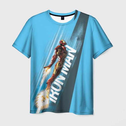 Мужская футболка 3D Iron Man comics