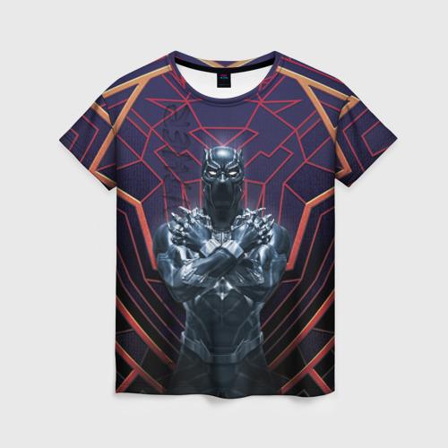 Женская футболка 3D Black panther