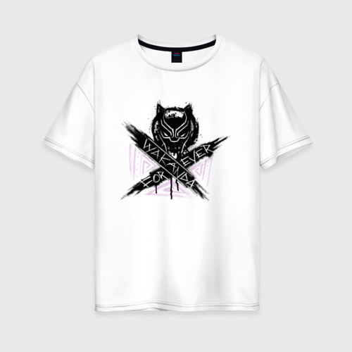 Женская футболка хлопок Oversize Ваканда