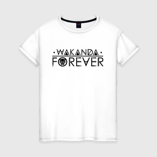 Женская футболка хлопок Wakanda forever
