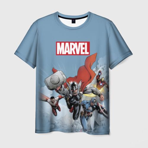 Мужская футболка 3D Avengers comics
