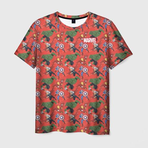 Мужская футболка 3D Avengers pattern