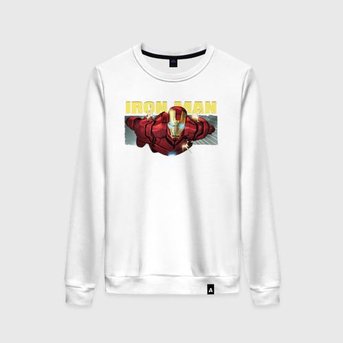 Женский свитшот хлопок Iron Man comics