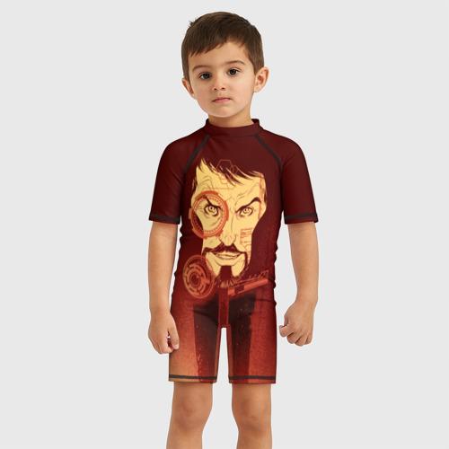 Детский купальный костюм 3D Tony Stark