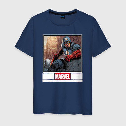 Мужская футболка хлопок Капитан Америка