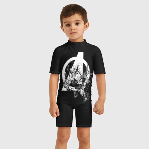 Детский купальный костюм 3D Avengers comics