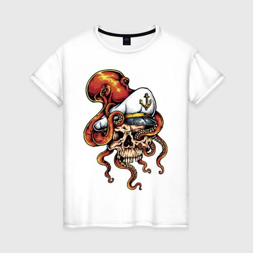 Женская футболка хлопок Осьминог