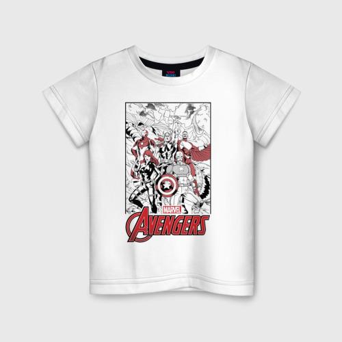 Детская футболка хлопок Мстители